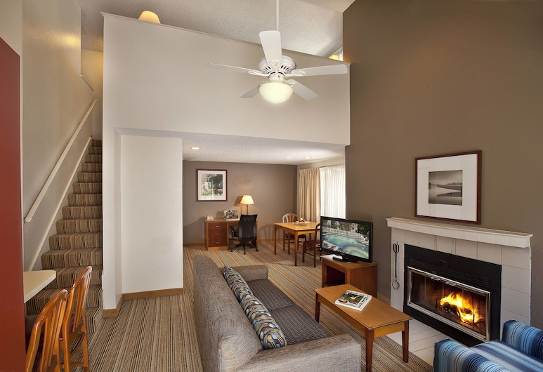 Residence Inn by Marriott Lake Oswego, Lake Oswego, Στούντιο, 1 Queen Κρεβάτι, Μη Καπνιστών, Τζάκι, Δωμάτιο επισκεπτών