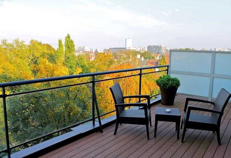 布魯塞爾凱特羅那酒店, 布魯塞爾, 特級客房, 露台, 客房