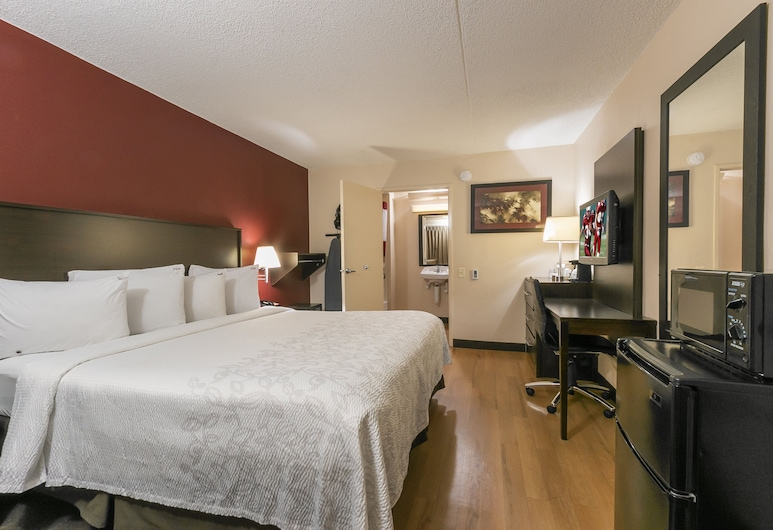 Red Roof Inn PLUS+ Columbus-Ohio State University OSU, Columbus, Quarto Superior, 1 cama king-size, Acessível (Smoke Free), Quarto