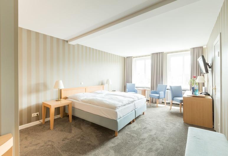 โรงแรมรีเลกซา แบลวู, ฮัมบูร์ก, ห้องพรีเมียมดับเบิลหรือทวิน, ห้องพัก
