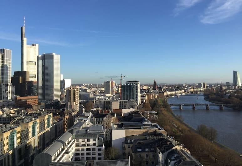 InterContinental Frankfurt, Frankfurt, Deluxe-Zimmer, Ausblick vom Zimmer