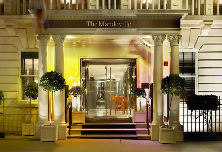 The Mandeville Hotel, London, Hotelfassade am Abend/bei Nacht