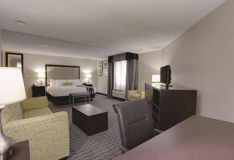 底特律地鐵機場溫德姆拉昆塔套房酒店, 羅慕勒斯, 客房, 1 張特大雙人床, 非吸煙房, 客房