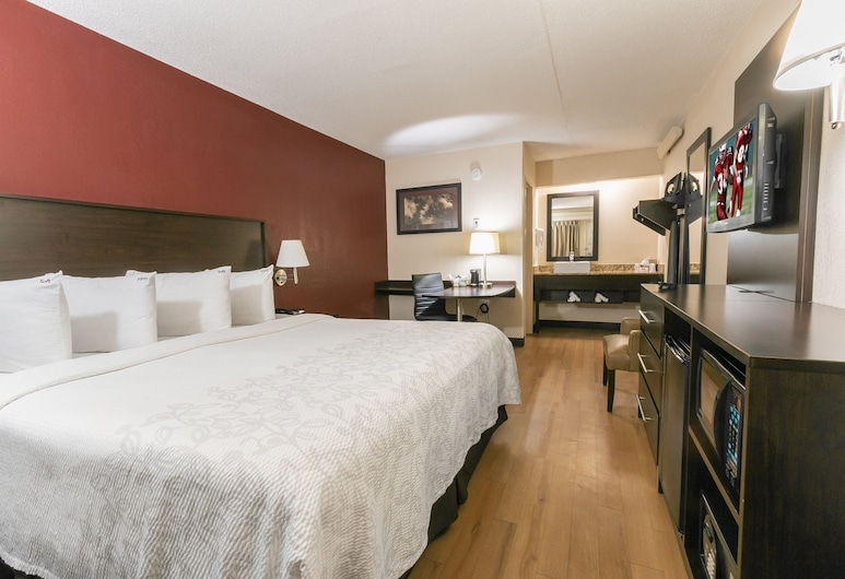 Red Roof Inn PLUS+ Ann Arbor - U of Michigan North, Ann Arbor, Quarto Superior, 1 cama king-size (Smoke Free), Quarto