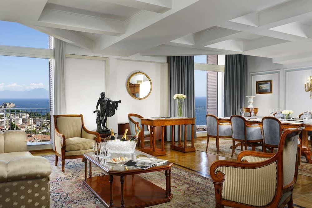 Suite – president, balkong, utsikt mot sjø - Stue