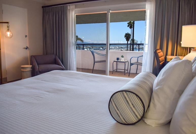 Beachside Inn, Santa Barbara, Room, 1 Katil Raja (King), Balcony (Harborside), Bilik Tamu