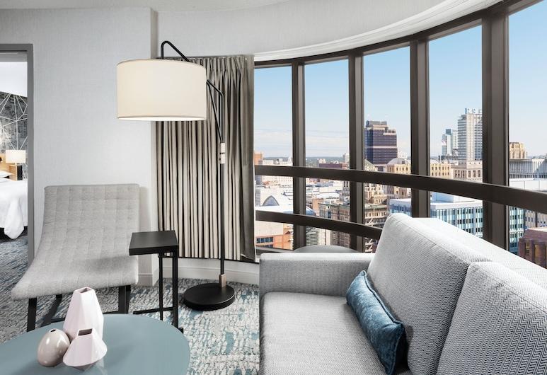 Sheraton Philadelphia Downtown, Philadelphia, Apartmán, 1 extra veľké dvojlôžko, rohová izba, Hosťovská izba