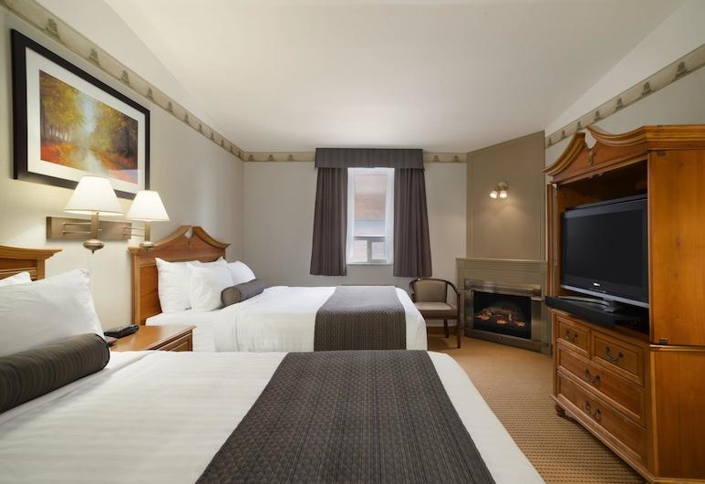 安大略索爾特聖瑪麗溫德姆戴斯套房飯店, Sault Ste. 馬力, 標準客房, 2 張加大雙人床, 按摩浴缸, 客房