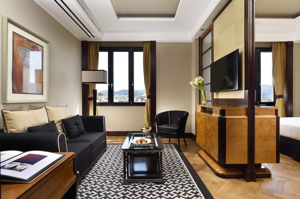 Suite – junior, utsikt mot byen - Oppholdsområde
