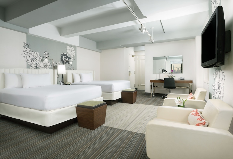 Stewart Hotel, New York, Studio Suite, 2 Double Beds with Kitchen, Guest Room