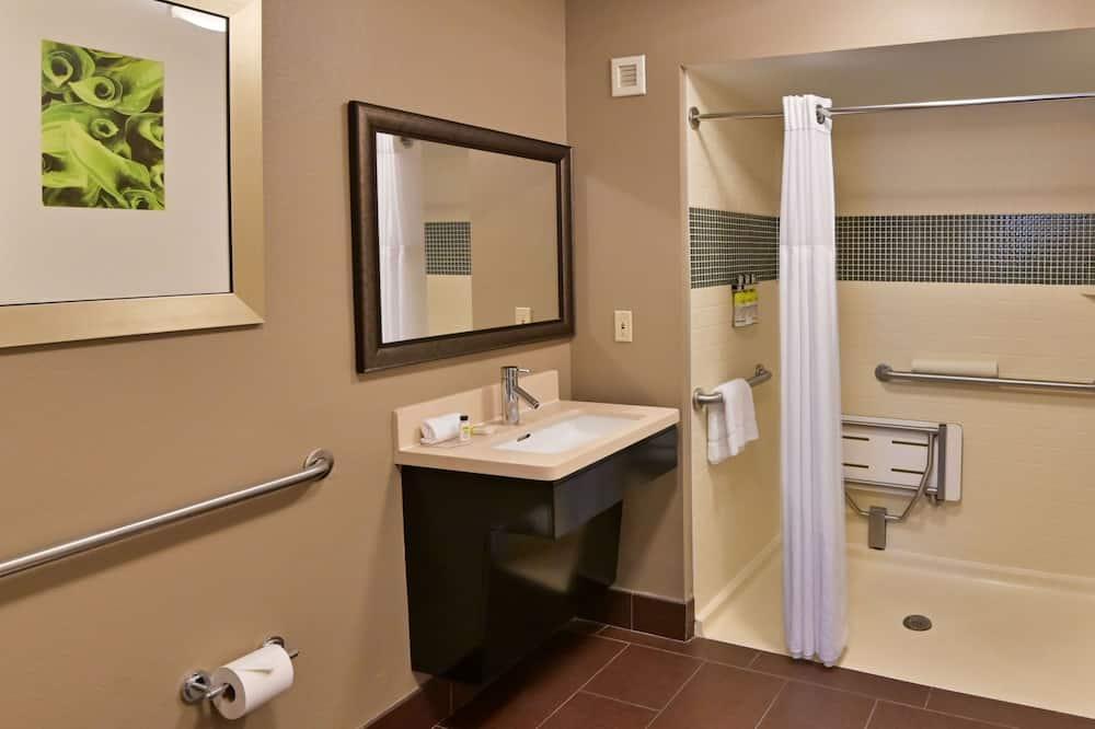 Süit, 2 Büyük (Queen) Boy Yatak, Engellilere Uygun (Mobility/Hearing Shower Two Bedrooms) - Banyo