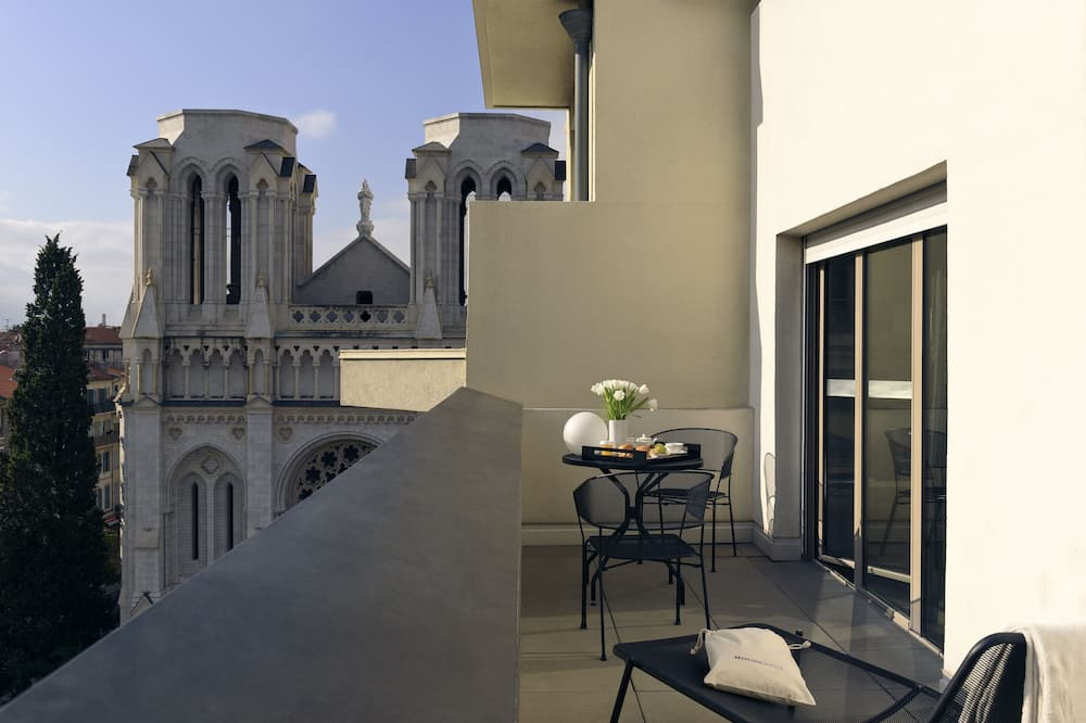 Junior-Suite, 1 Doppelbett, Terrasse, Ausblick - Blick vom Balkon