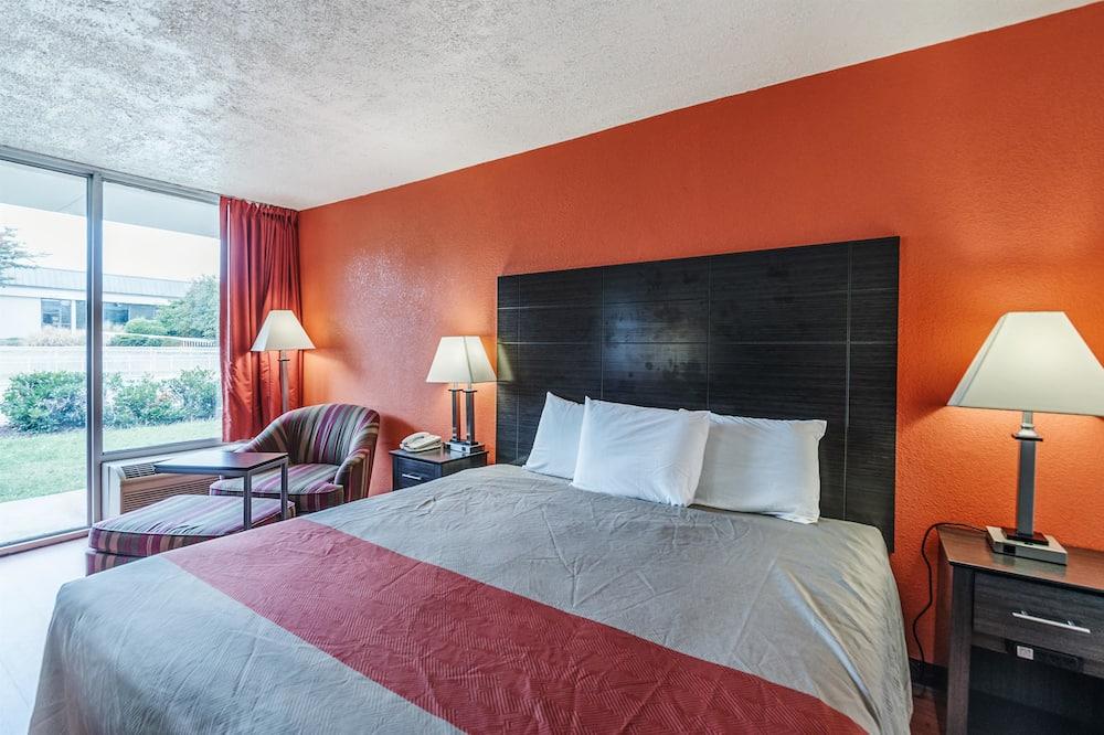 豪華客房, 1 張特大雙人床, 非吸煙房, 冰箱和微波爐 - 客房