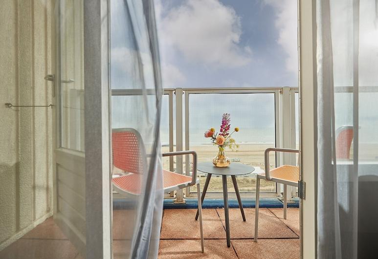 卡爾頓海灘酒店, 海牙, 舒適雙人或雙床房, 1 張特大雙人床, 海景, 露台