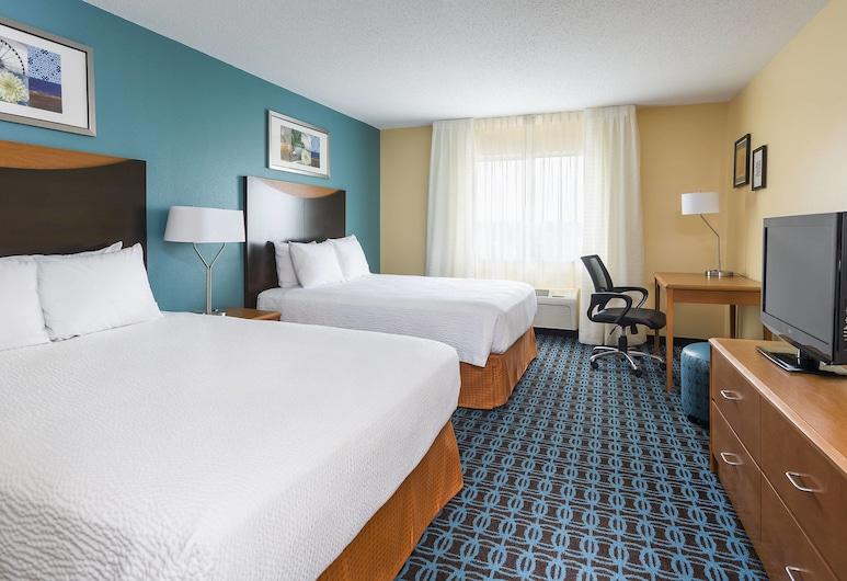 Fairfield Inn & Suites Jackson, ג'קסון, חדר, 2 מיטות קווין, ללא עישון, חדר אורחים
