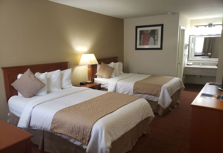 Airport Inn , Boise, Standard Double Room, 2 Double Beds, Guest Room