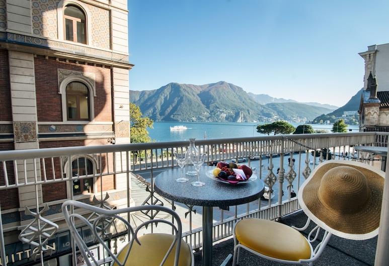 International au Lac Historic Lakeside Hotel - Lugano, Lugano, Panoramic-Doppelzimmer, Balkon, Seeblick, Zimmer