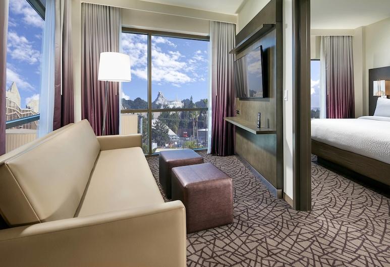 Residence Inn by Marriott at Anaheim Resort/Convention Cntr, Anaheim, Suite Deluxe, 1 camera da letto, non fumatori (King), Vista dalla camera