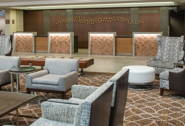 DoubleTree by Hilton Hotel Portland, Portland, Zona con asientos del vestíbulo
