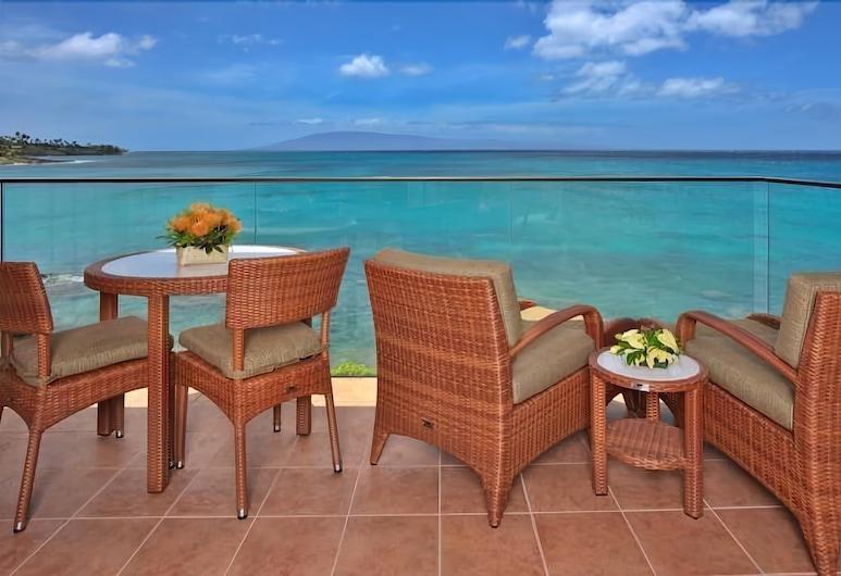 Napili Kai Beach Resort, Lahaina, Süit, 1 Yatak Odası, Okyanusa Sıfır, Balkon
