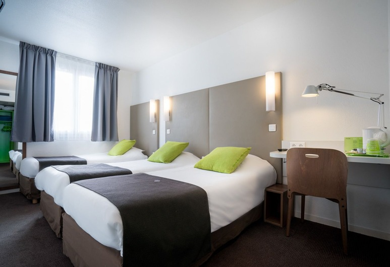 Hotel Campanile Nice Centre - Acropolis, Nice, Chambre standard, 3 lits une place, Chambre