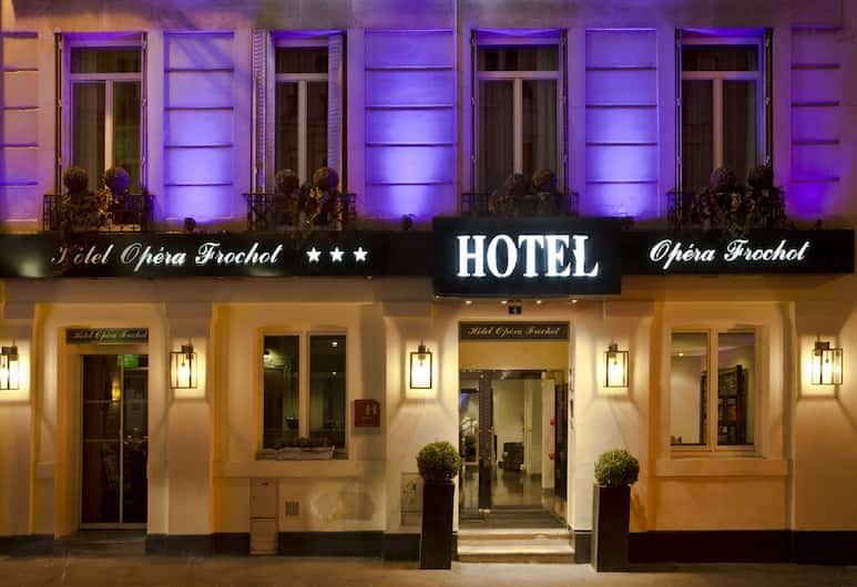 오페라 프로쇼, 파리, 호텔 정면 - 저녁/밤