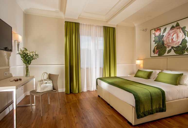 Hotel Cristoforo Colombo, Rome, Standard Double Room, Guest Room