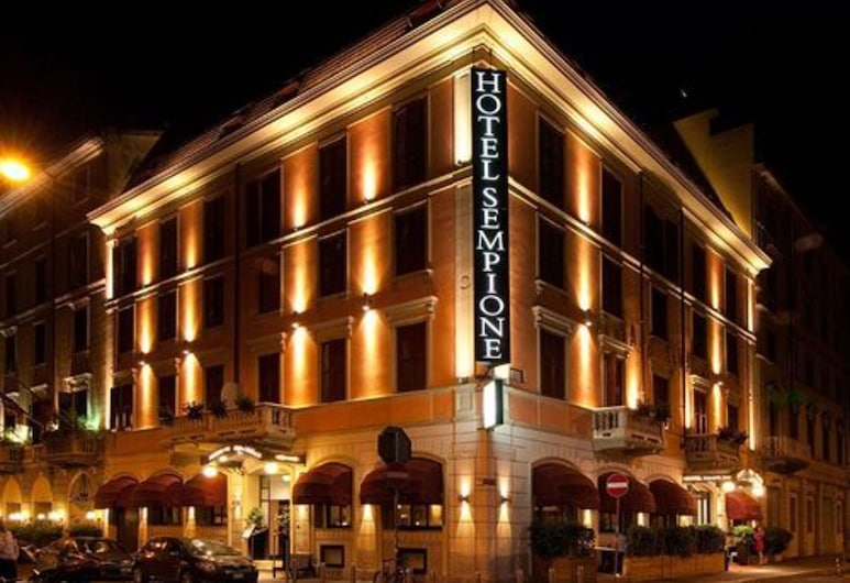 Hotel Sempione, Milan, Hotel Front – Evening/Night