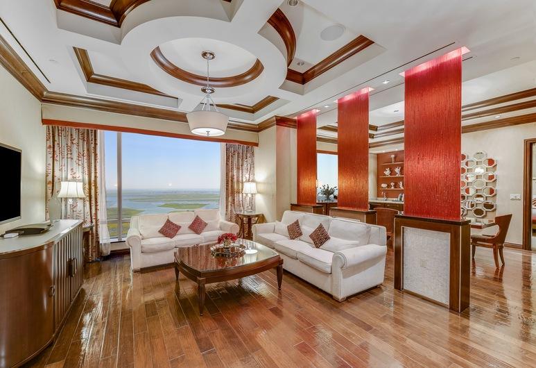 Harrah's Resort Atlantic City, Atlantic City, Waterfront Tower Red Door Spa Suite 2 Bedroom, Khu phòng khách