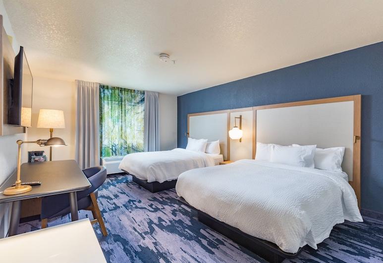 Fairfield Inn & Suites by Marriott Tampa North, טמפה, חדר, 2 מיטות קווין, ללא עישון, חדר אורחים