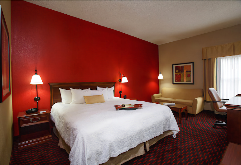 Hampton Inn Simpsonville, סימפסונוויל, חדר, מיטת קינג, נגישות לנכים, ללא עישון, חדר אורחים