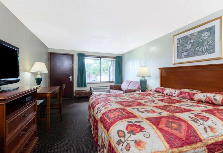 Knights Inn Martinsburg, Martinsburg, Habitación, 1 cama de matrimonio grande con sofá cama, no fumadores, Habitación