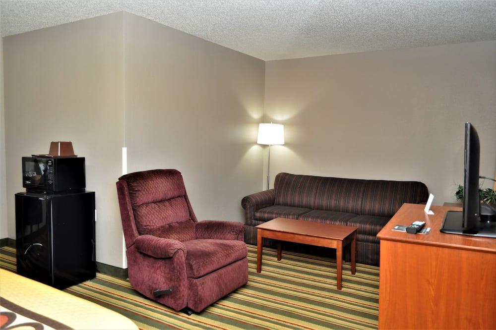 高級開放式套房, 1 張特大雙人床, 非吸煙房 - 客廳