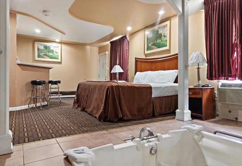 Knights Inn Trevose, Feasterville-Trevose, Suite, 1 cama de matrimonio grande, bañera de hidromasaje, Vistas de la habitación
