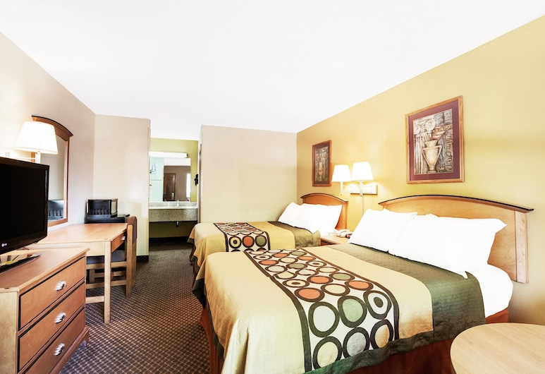 Super 8 by Wyndham Charlotte Downtown Area, Charlotte, Room, 2 Double Beds, Non Smoking, Guest Room