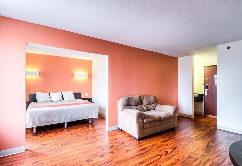 موتل 6 لانسينج، إلينوي - شيكاجو ساوث, لانسينغ, غرفة عادية - سرير ملكي - لغير المدخنين, غرفة نزلاء