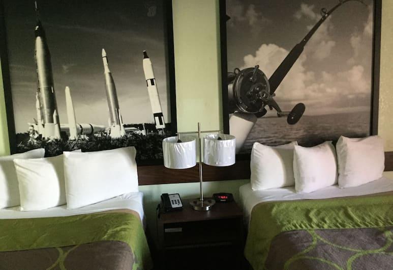 Super 8 by Wyndham Clearwater/US Hwy 19 N, Clearwater, Quarto casal, 2 camas de casal, Quarto