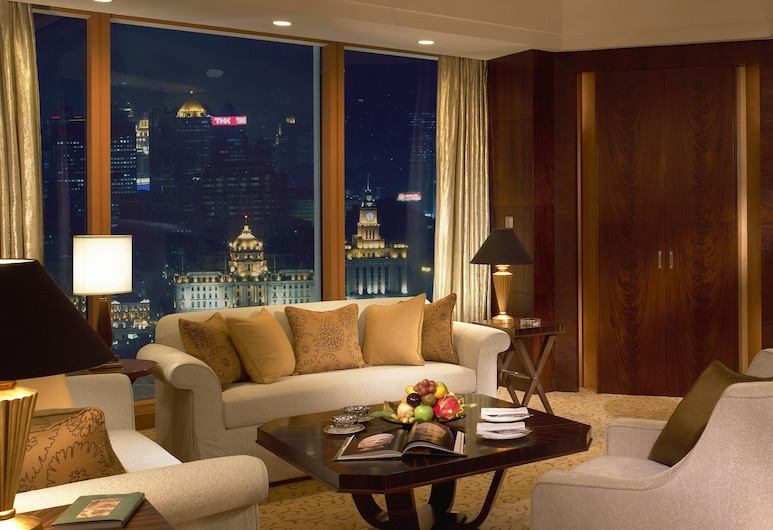 Pudong Shangri-La East Shanghai, שנחאי, Horizon, סוויטת פרמייר, 2 מיטות יחיד, אזור מגורים