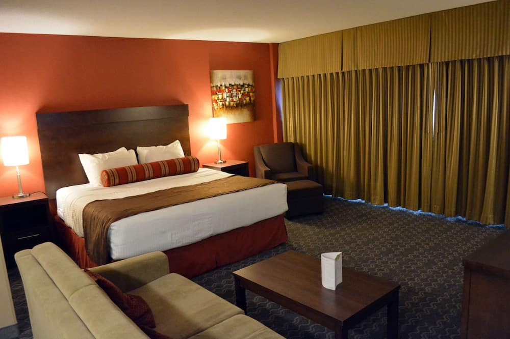 Suite, 1 très grand lit, non-fumeurs, réfrigérateur et four à micro-ondes - Chambre