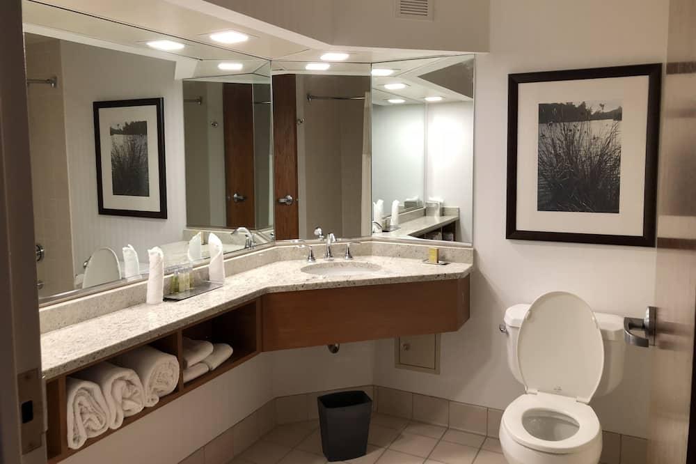 Deluxe kamer, 1 kingsize bed, Toegankelijk voor mindervaliden, niet-roken - Badkamer
