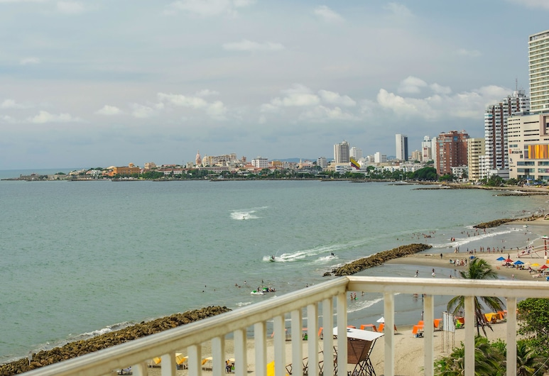 Hotel Capilla del Mar, Cartagena, Superior-Zimmer, 2Doppelbetten, Balkon, eingeschränkter Meerblick, Balkon