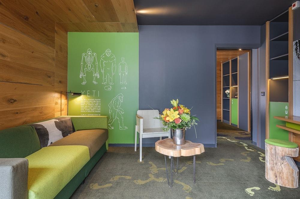 Obiteljski suite, balkon, pogled na planinu - Dnevni boravak