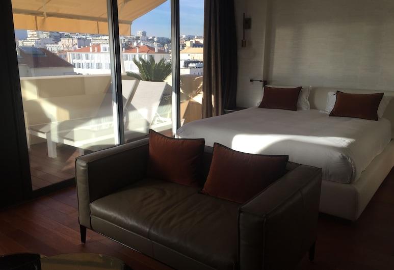 Hôtel Cannes Centre Univers (Futur Mercure), Cannes, Junior suite, 1 tweepersoonsbed, Balkon, Kamer