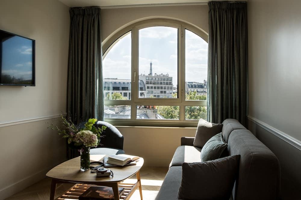 جناح جونيور - بشرفة - منظر للمدينة - منطقة المعيشة