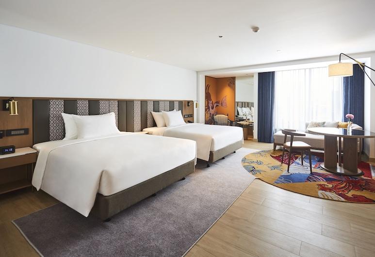 モンティエン ホテル スラウォン バンコク, バンコク, Premier Deluxe Double-Double, リビング エリア