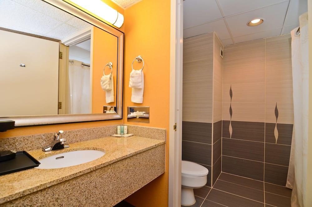 חדר, 2 מיטות זוגיות, ללא עישון - חדר רחצה