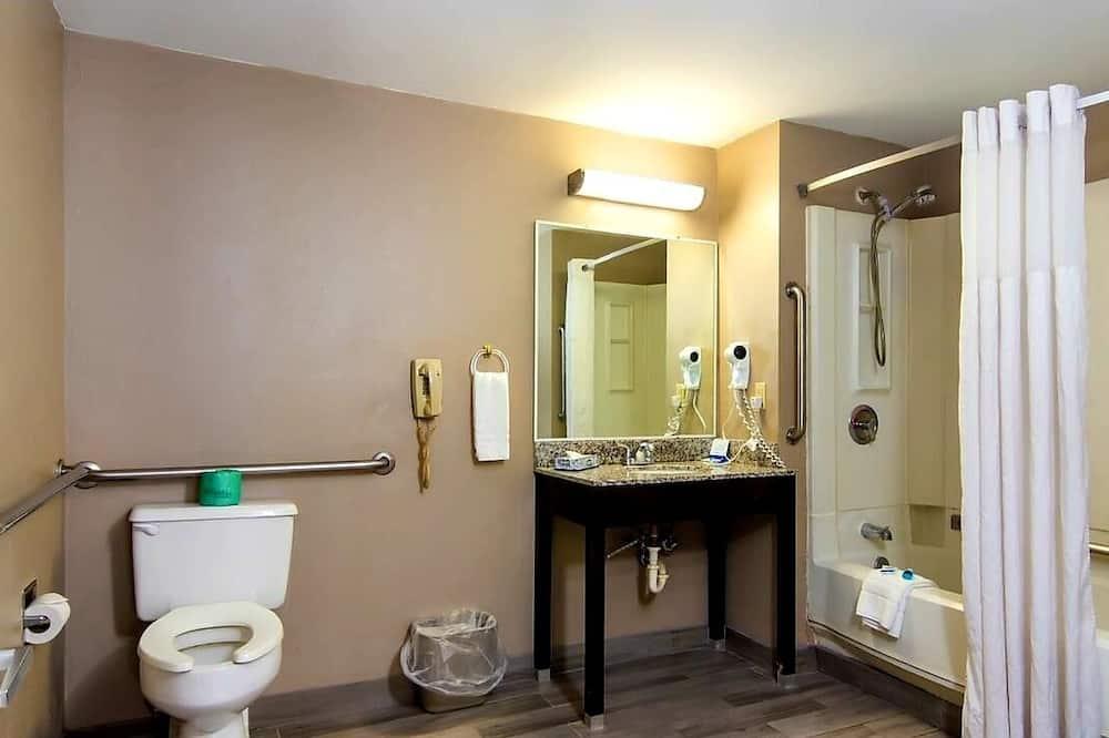 Oda, 1 En Büyük (King) Boy Yatak, Engellilere Uygun, Sigara İçilmez - Banyo