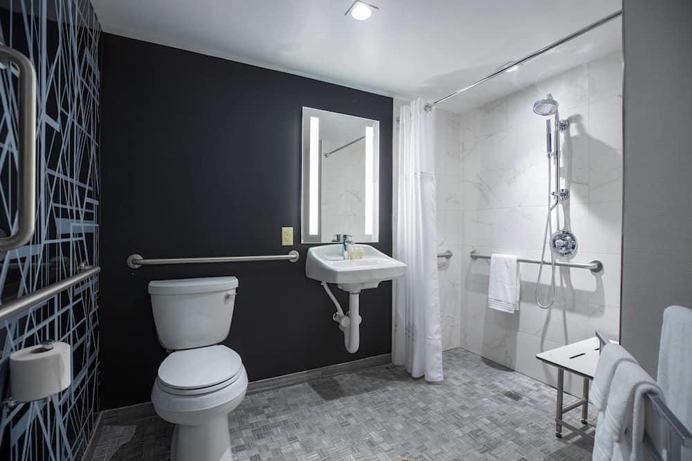 Standardværelse - 2 dobbeltsenge - ikke-ryger - Badeværelse