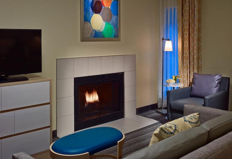 Sonesta ES Suites Columbus Dublin, Dublin, Studio Suite, 1 King Bed, Fireplace, Living Area