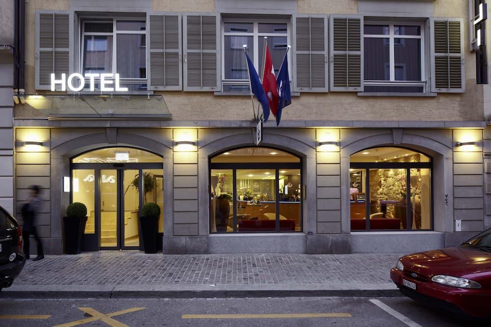 Standardrum - 1 kingsize-säng - utsikt mot staden - Hotellentré